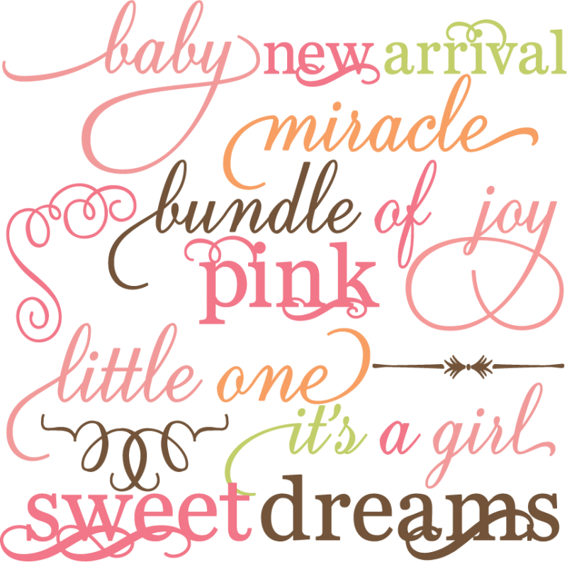 Baby girl acur lunamedia. Crafts clipart word