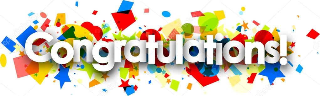 Collection of free download. Congratulations clipart banner