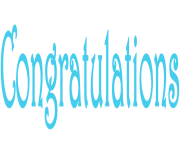 Congratulations clipart blue. Free images