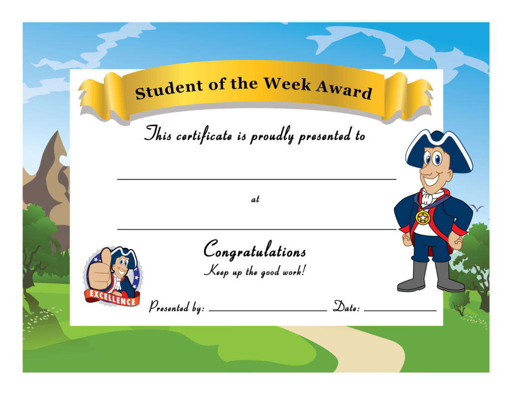 Congratulations clipart certificate. Patriot mascot junction