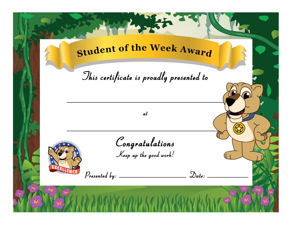 Lion cub mascot junction. Congratulations clipart certificate