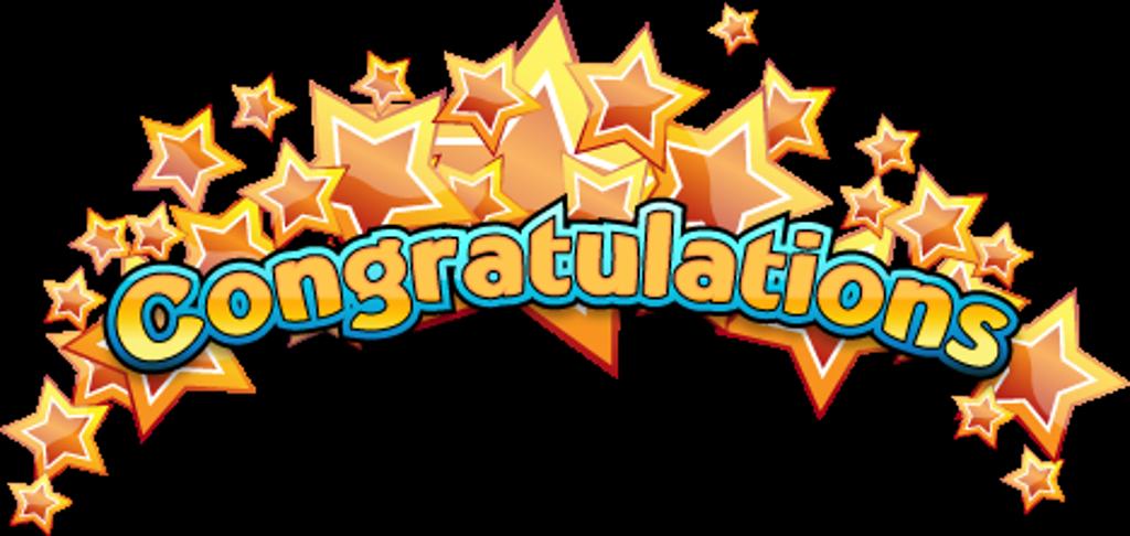 all stars. Congratulations clipart congrats