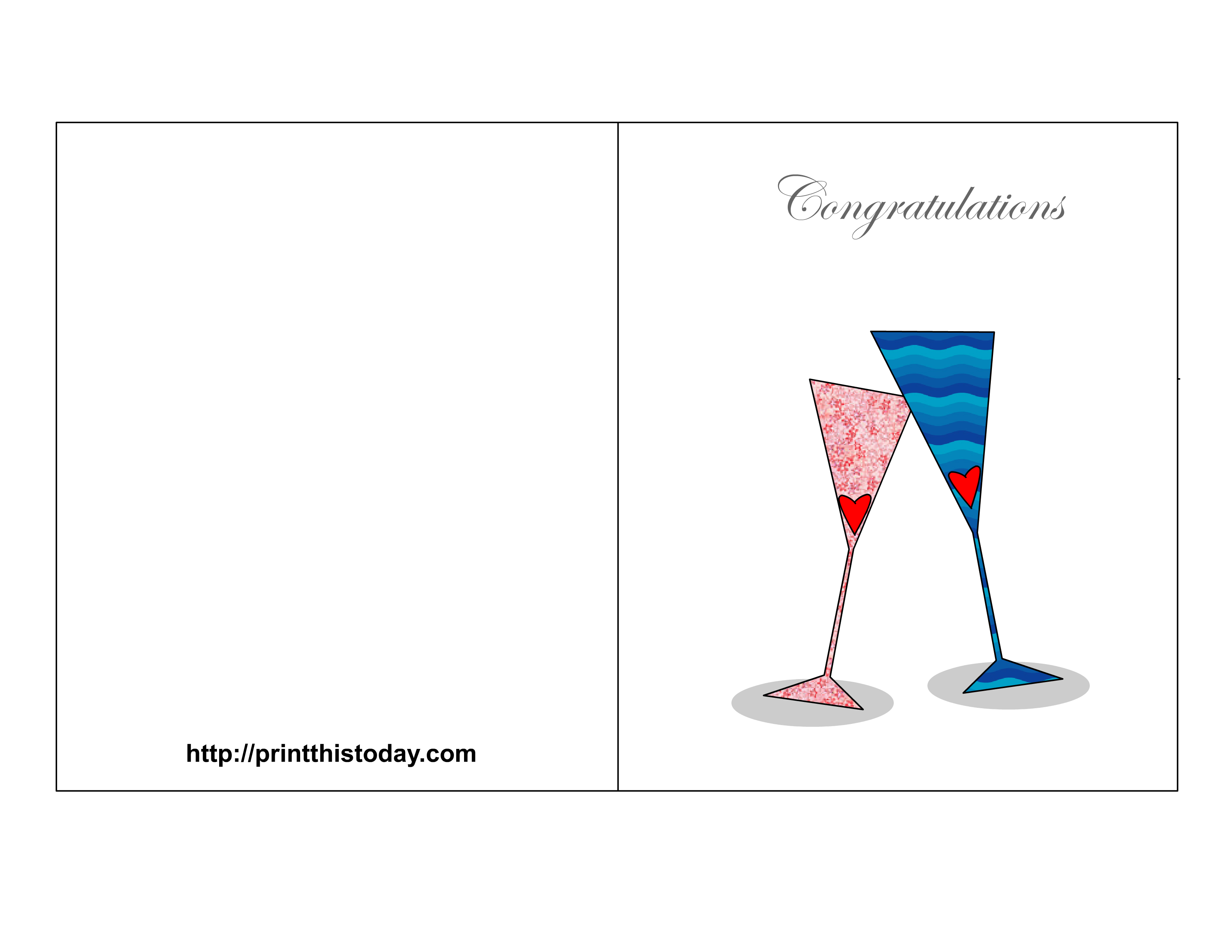 Free printable congratulations cards. Engagement clipart wedding wishes
