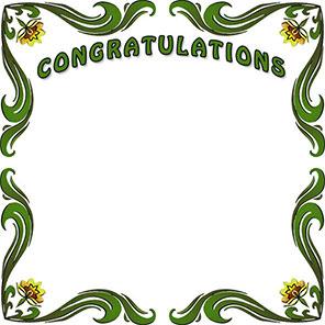 Free borders congratulation border. Congratulations clipart frame