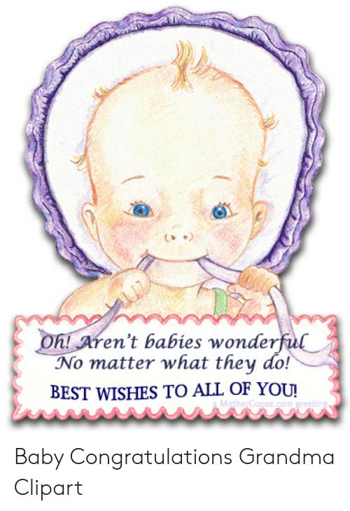 En t babies wonderful. Congratulations clipart grandma
