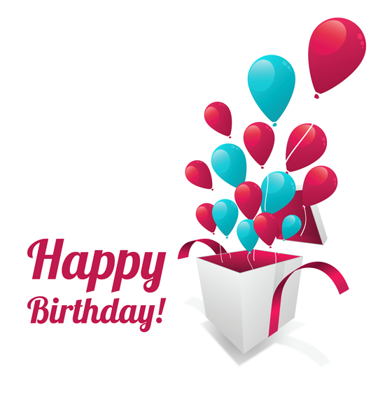 Happy birthday text sticker. Congratulations clipart manager