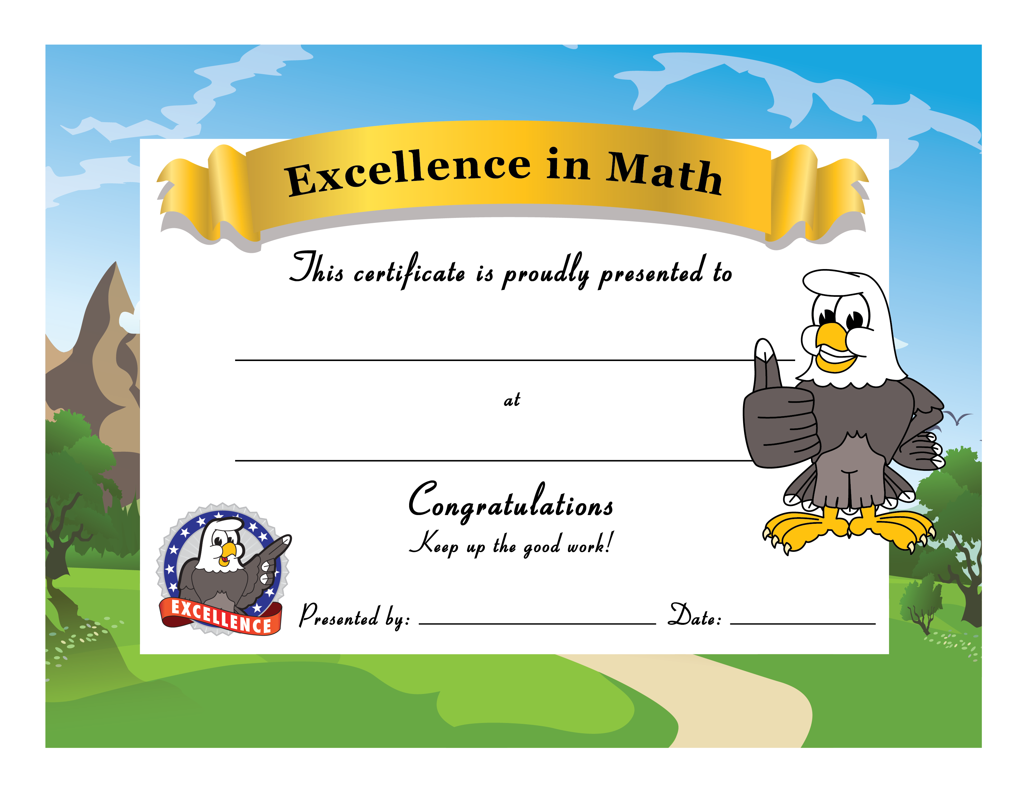 Positive clipart appropriate behavior. Eagle award certificate template