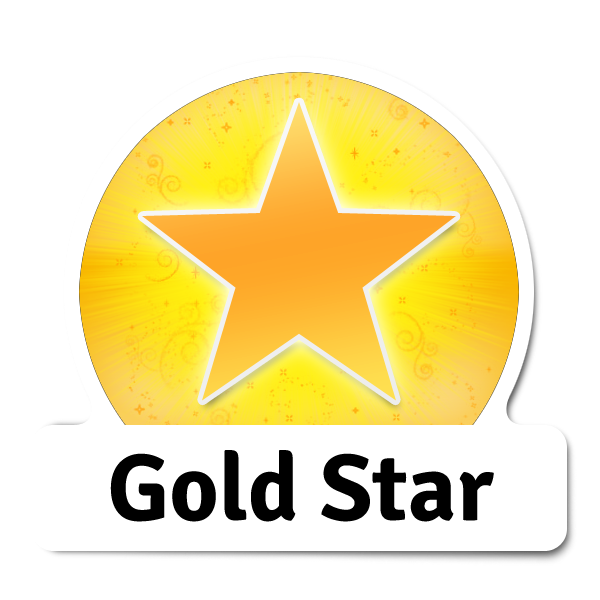 Sticker library you rock. Congratulations clipart small gold star