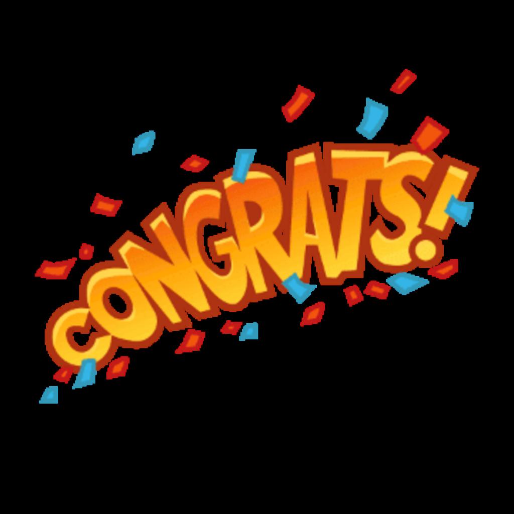Ftestickers text congrats . Congratulations clipart sticker