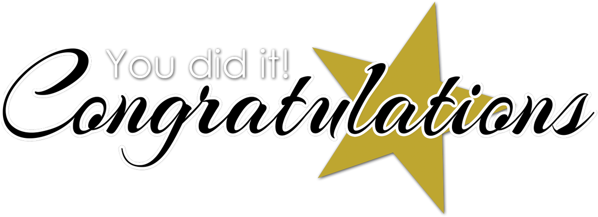Congratulations clipart student. Training link on twitter