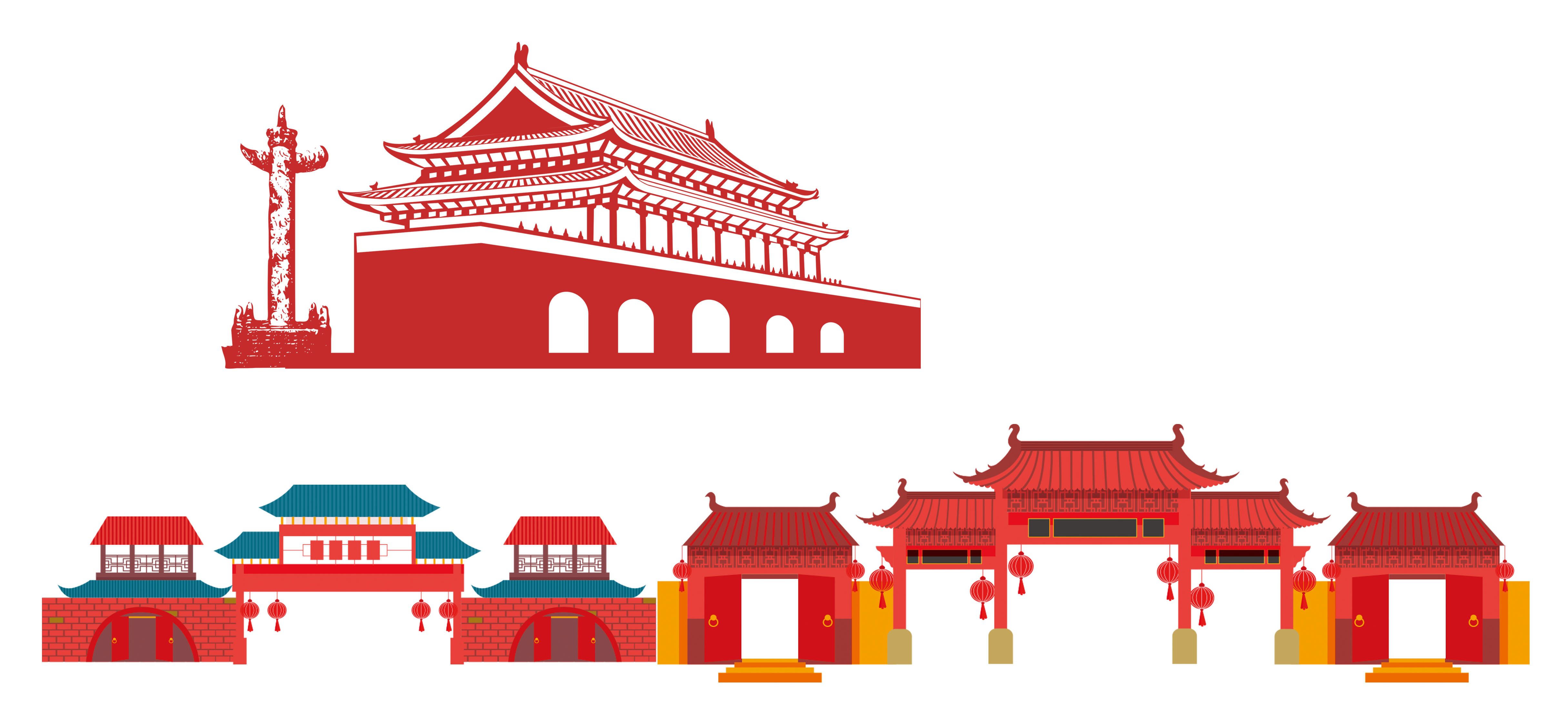 Anhui paifang th national. Palace clipart old house japanese