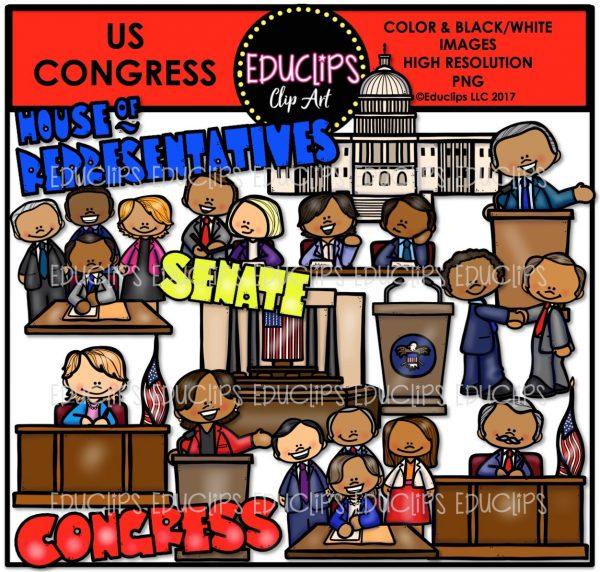 Congress clipart congress us. Clip art bundle color