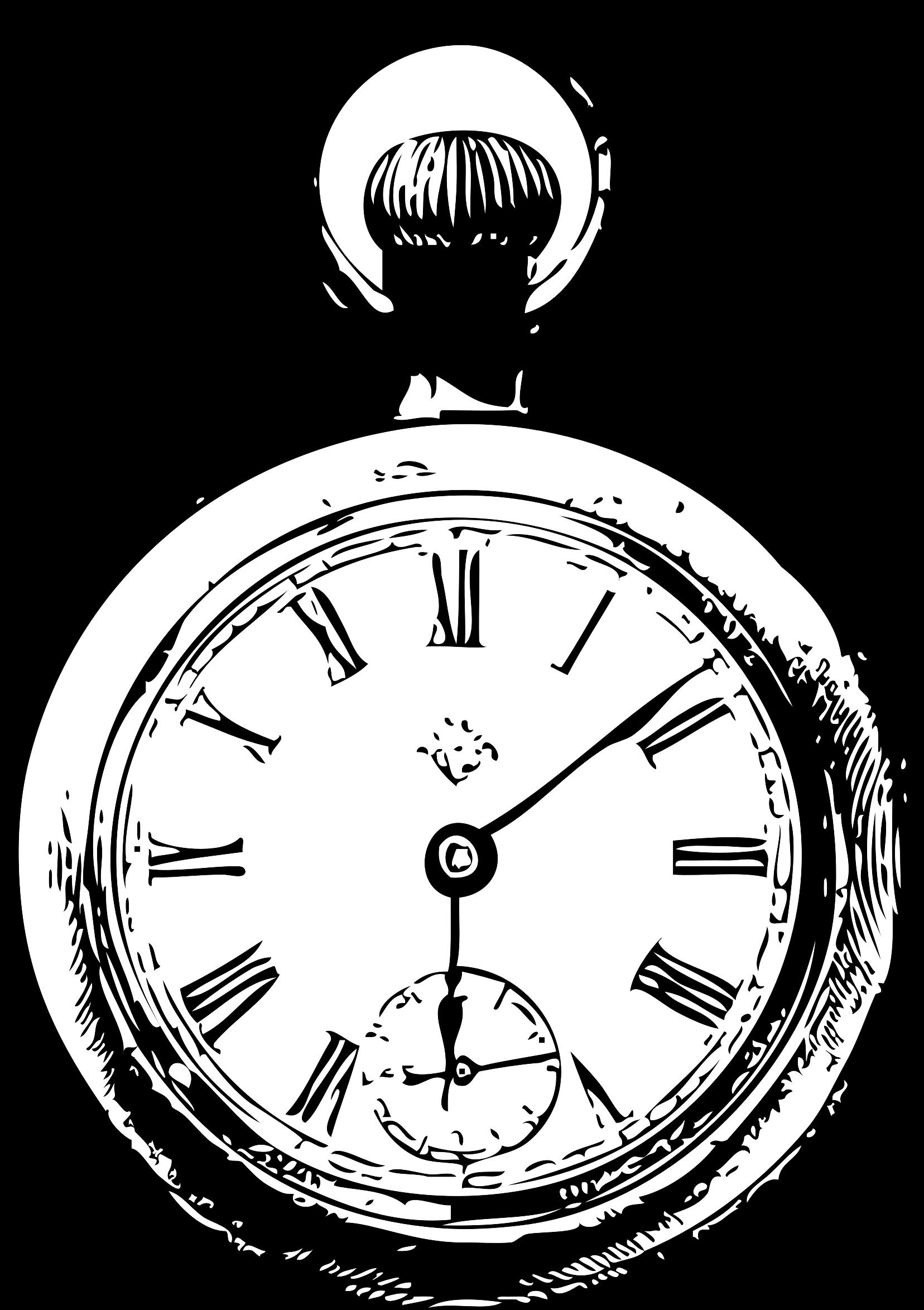 Pocket watch big image. Stopwatch clipart clip art