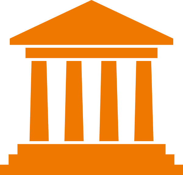 Government icon symbol clip. Courthouse clipart municipality
