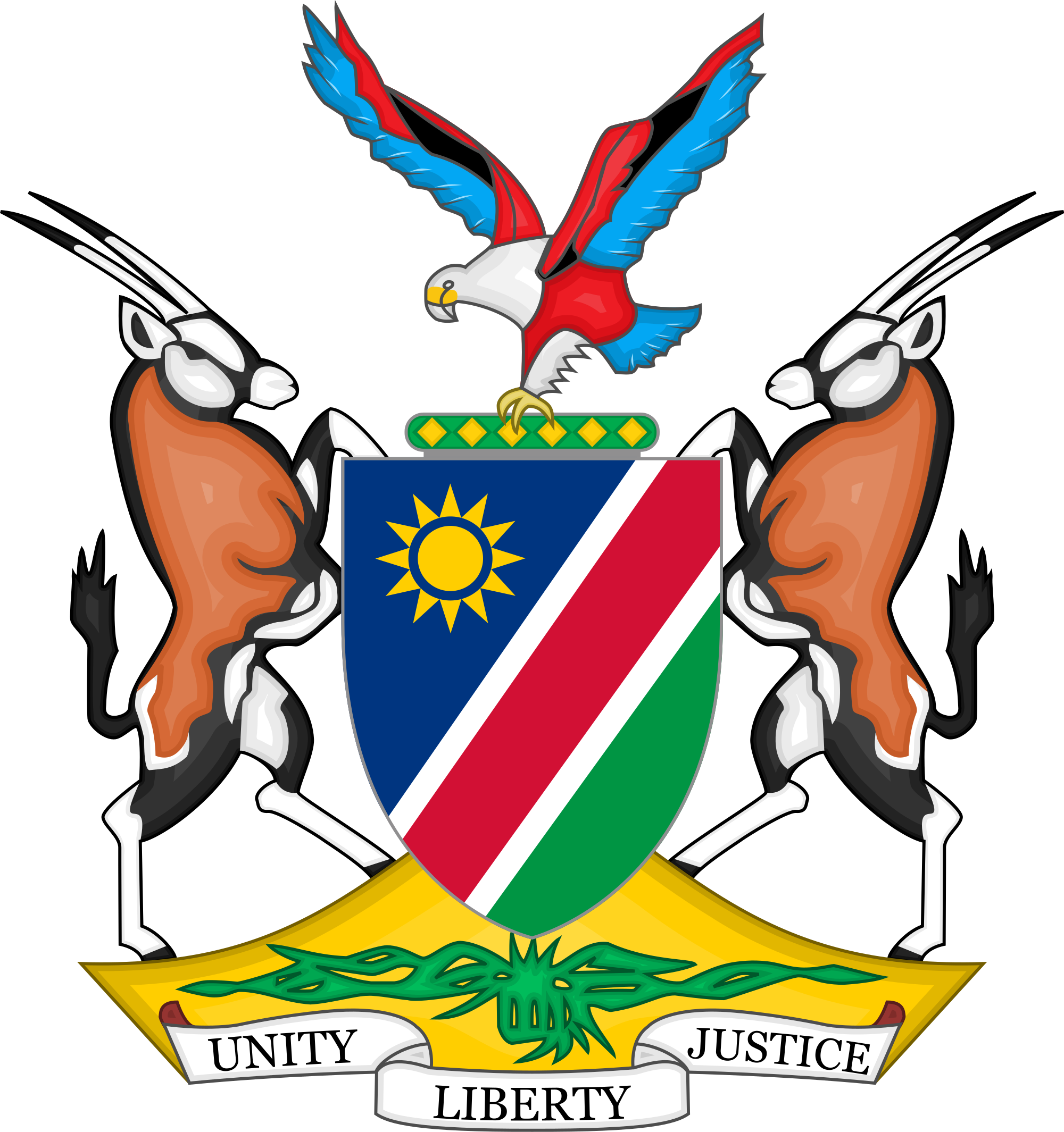 National assembly namibia wikipedia. Wing clipart coat arm