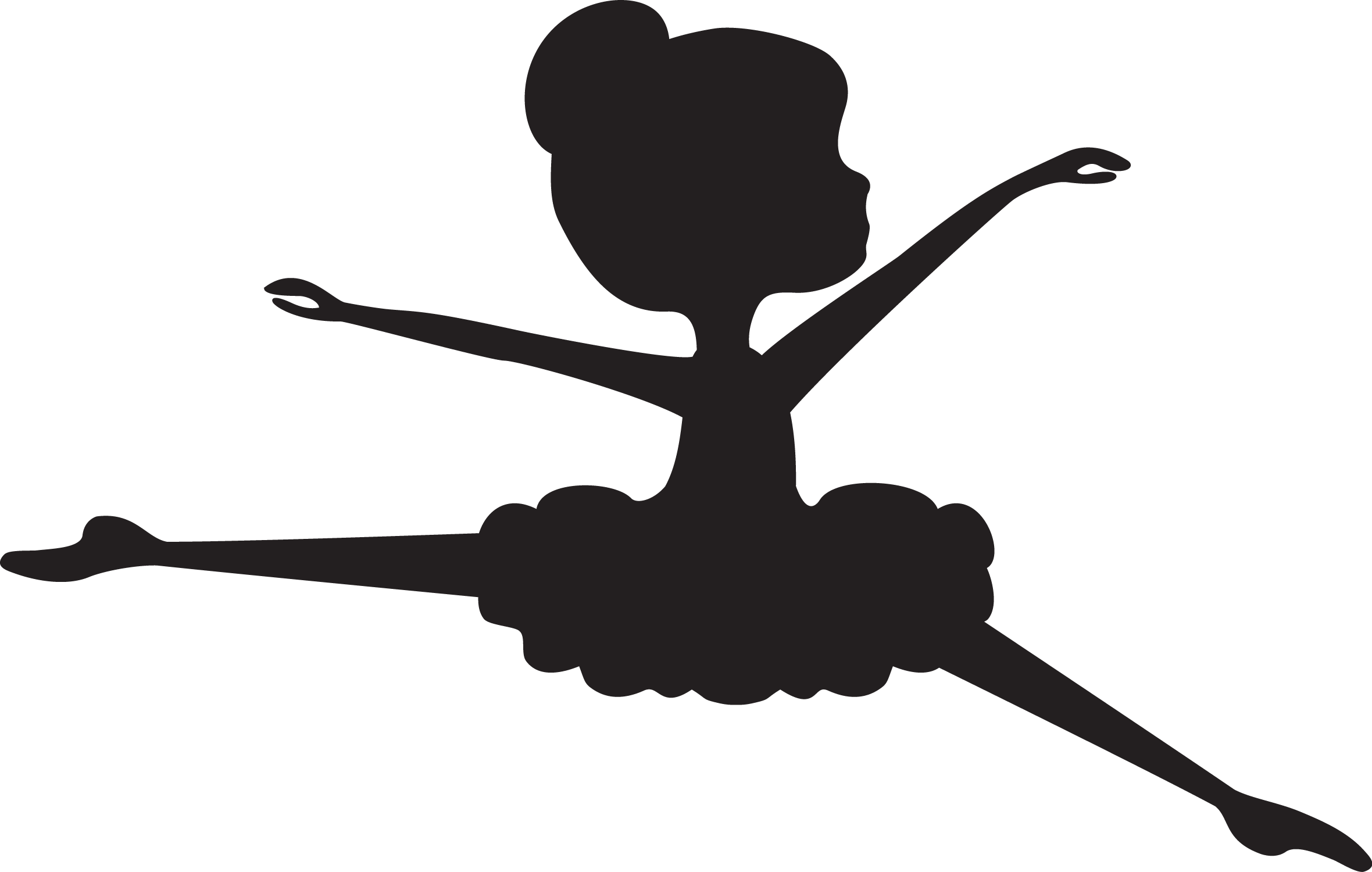 At getdrawings com free. Tutu clipart silhouette
