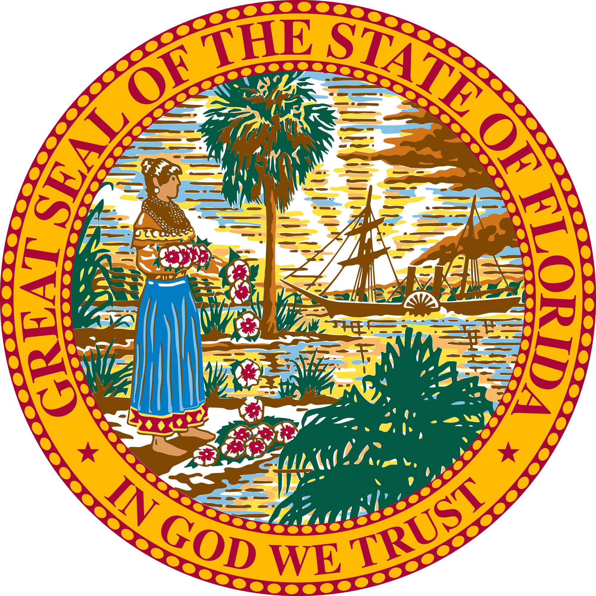 Florida legislature wikipedia coat. Manatee clipart vector