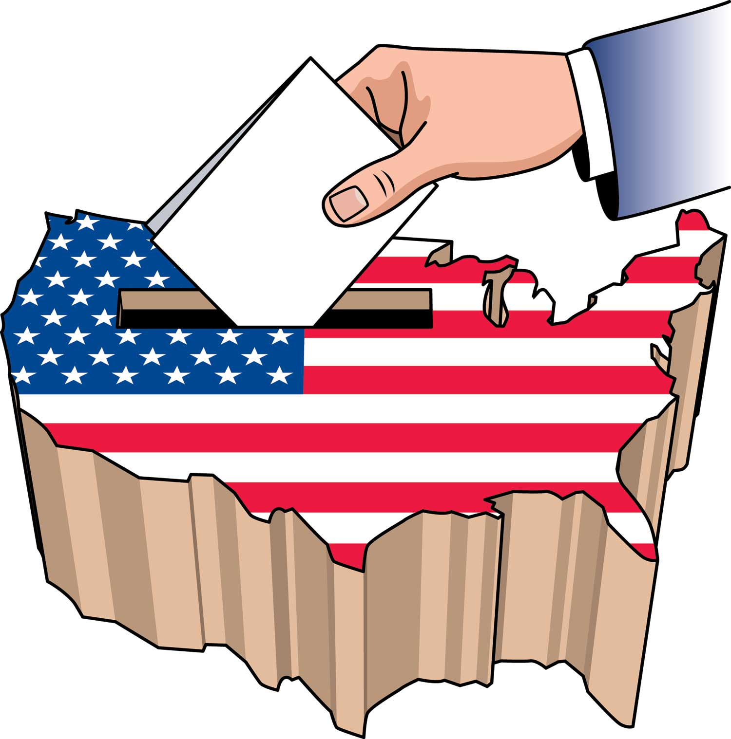 The right to vote. Voting clipart election us