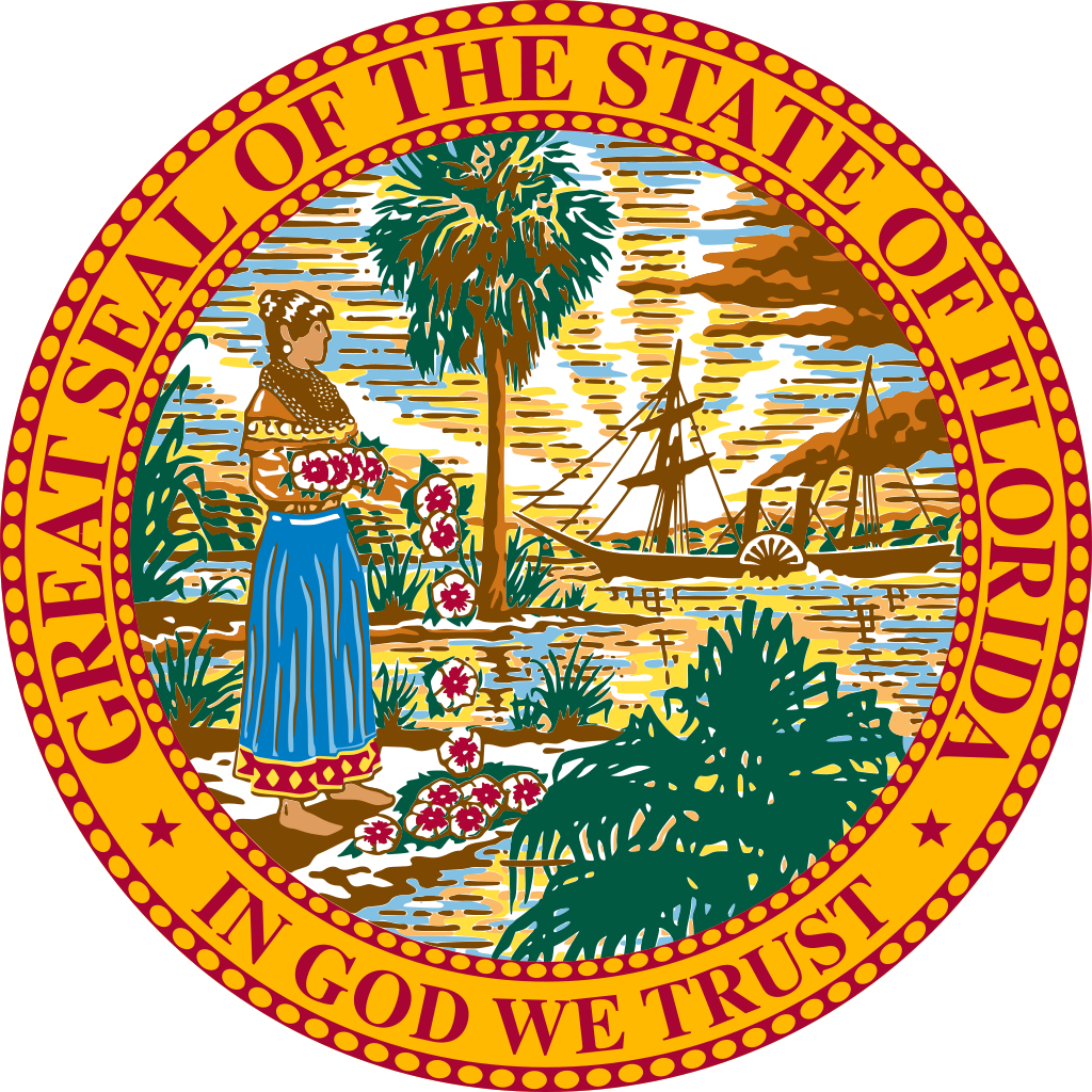 Manatee clipart svg. File seal of florida