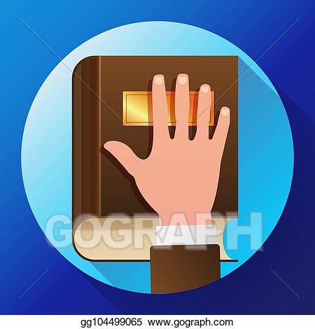 Constitution clipart icon. Eps vector hand on