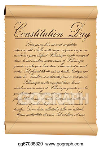 Constitution clipart paper. Vector scroll parchment vintage