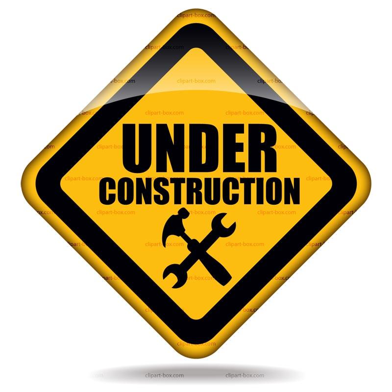 Website under . Construction clipart