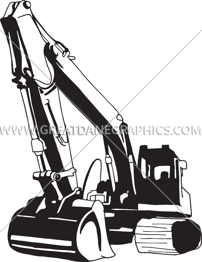 Backhoe drawing at getdrawings. Excavator clipart front end loader