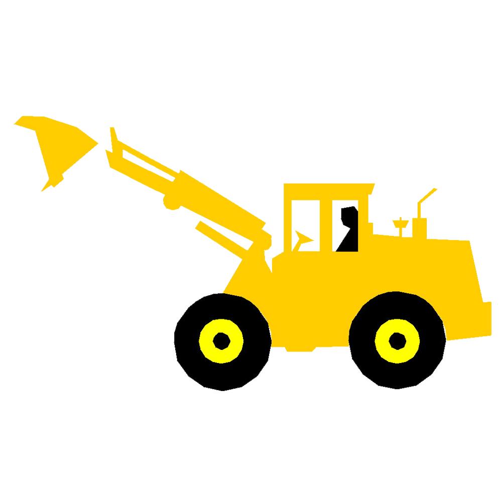 Banksman cartoon clip art. Excavator clipart cute