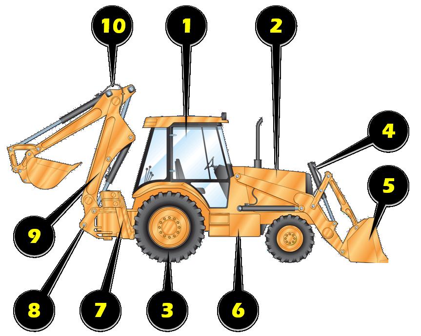 Excavator clipart loader. Used backhoe inspection top