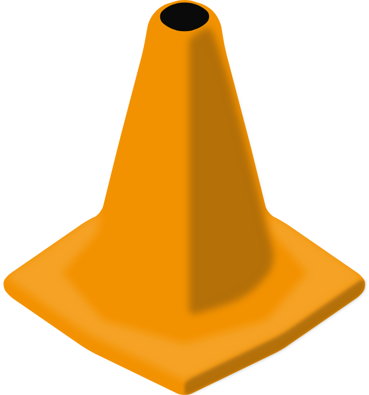 Construction clipart barrier. Traffic cone medium image