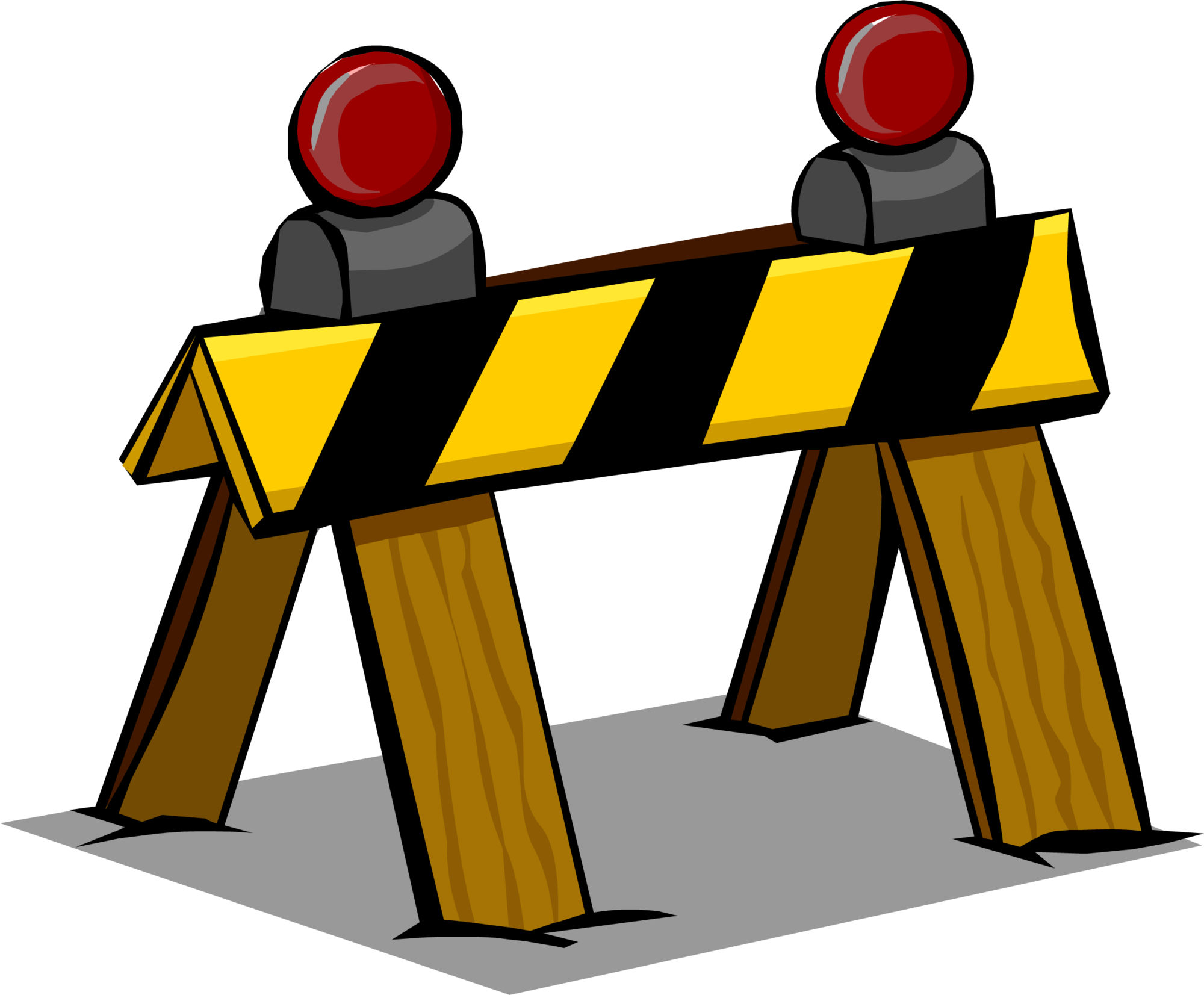 Club penguin wiki fandom. Construction clipart barrier