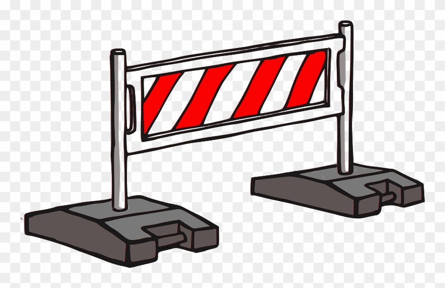 Clip art png . Construction clipart barrier