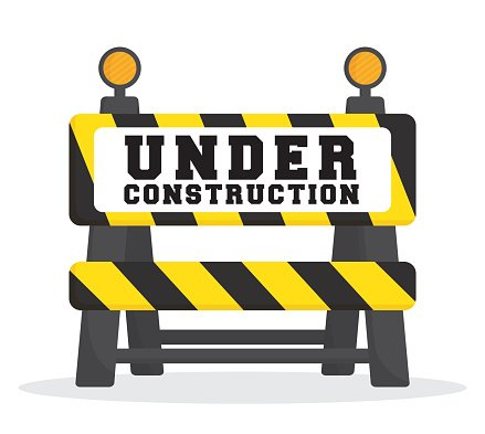 Construction clipart barrier. Under design premium