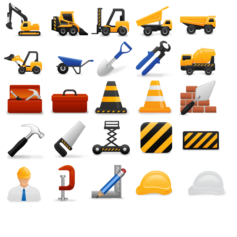 Icons vector free. Construction clipart construction business