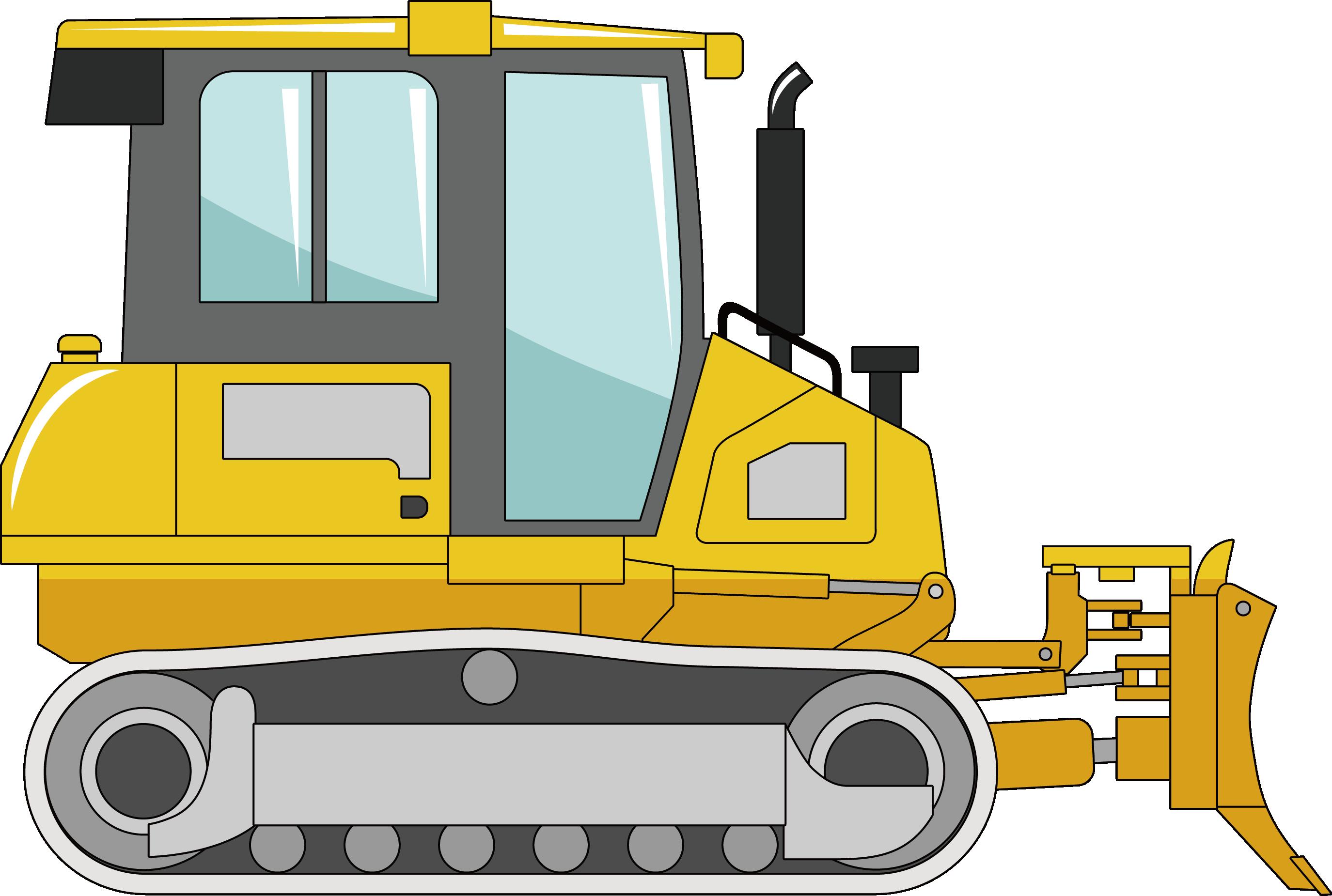 Bulldozer equipment machine excavator. Crane clipart heavy vehicle