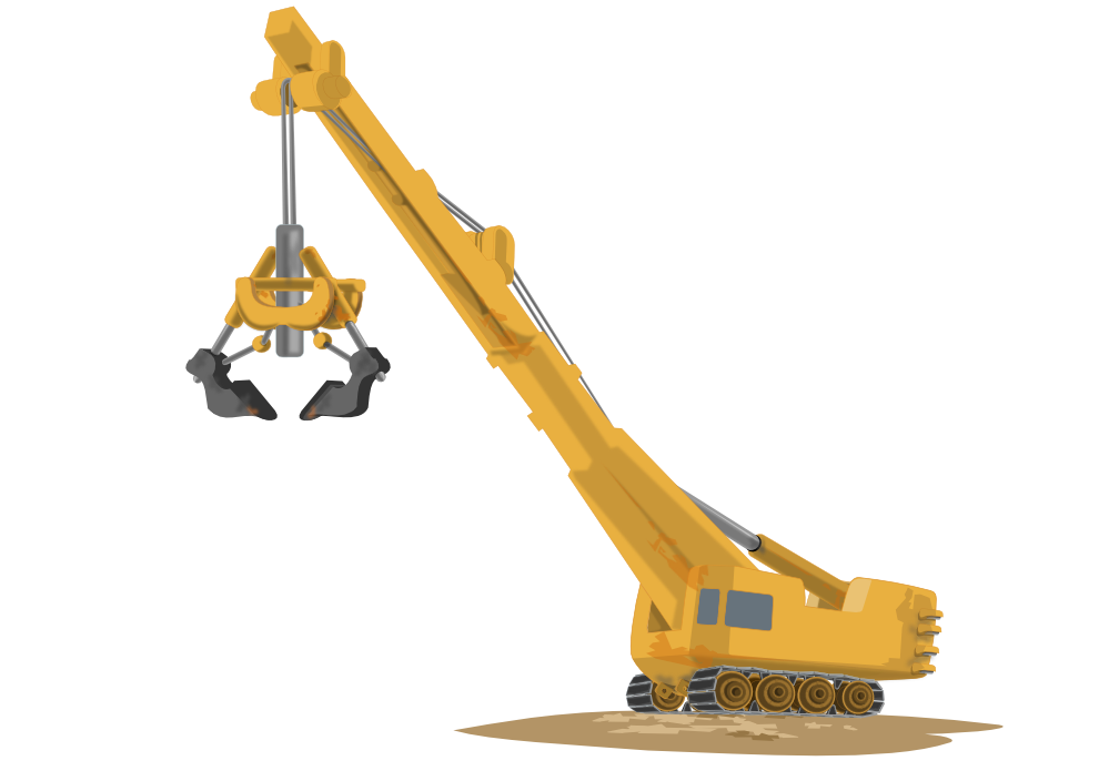 Construction png transparent images. Excavator clipart cartoon