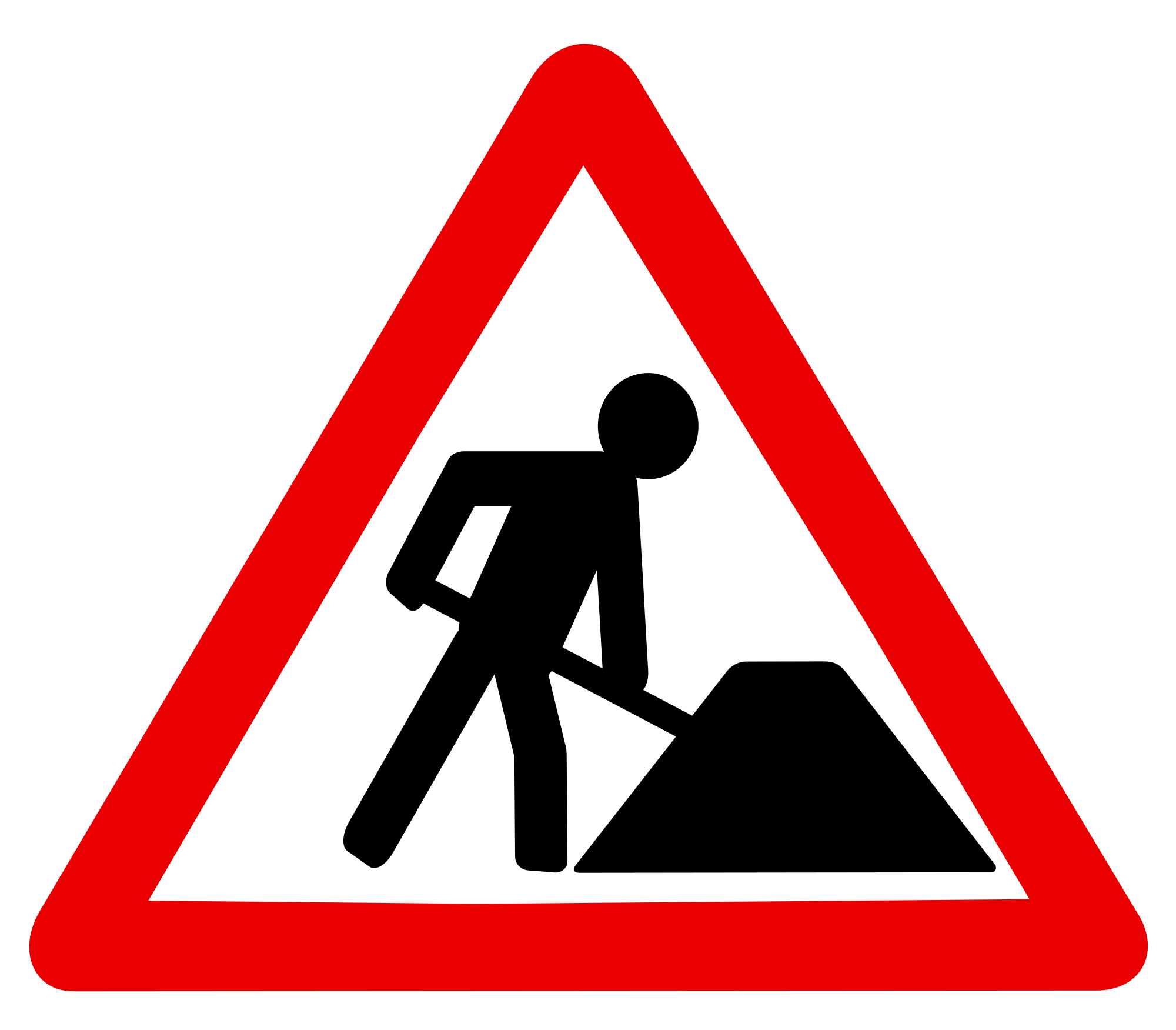 File baustelle svg wikimedia. Construction clipart construction sign