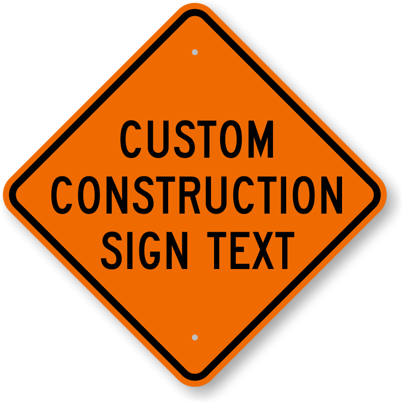 Construction clipart construction sign. Signs highly durable best