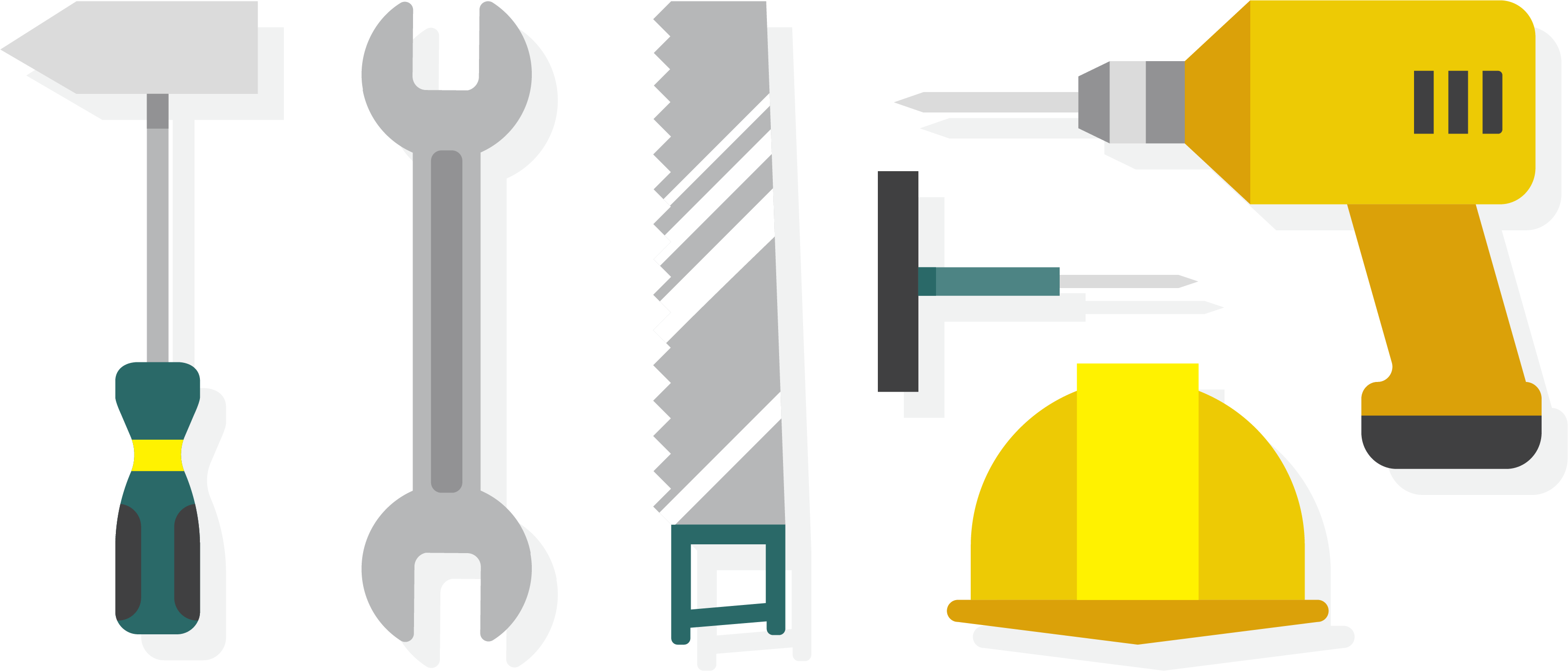 Architectural decoration construction tools. Engineering clipart engineering tool