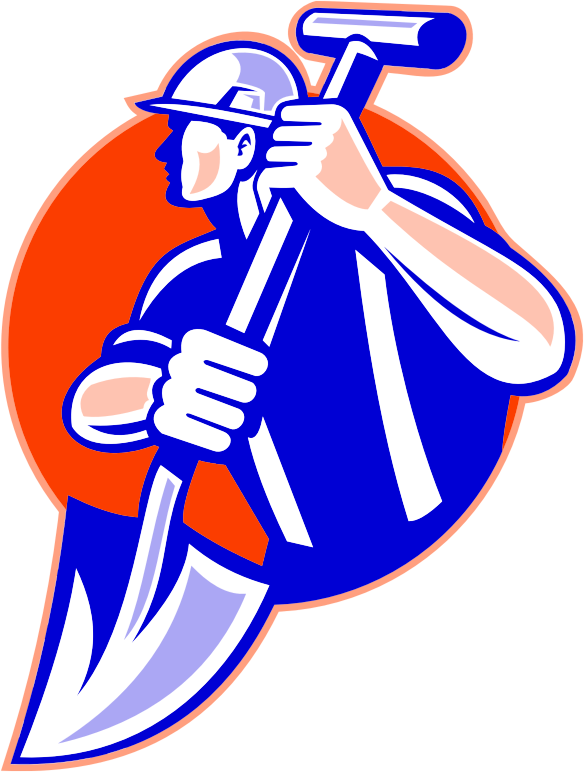 Worker icon medium image. Working clipart construction