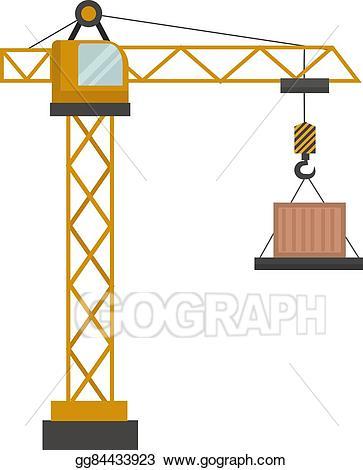 Vector illustration construction eps. Crane clipart constuction