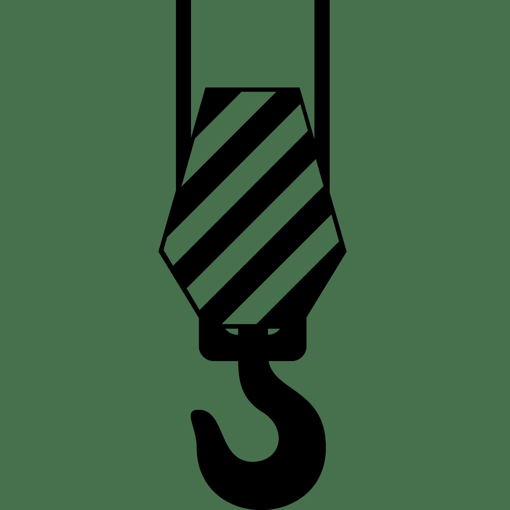 Hook transparent png stickpng. Crane clipart constuction