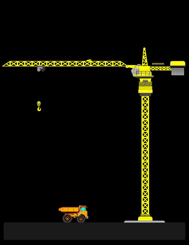 Crane clipart constuction. Tower medium image png