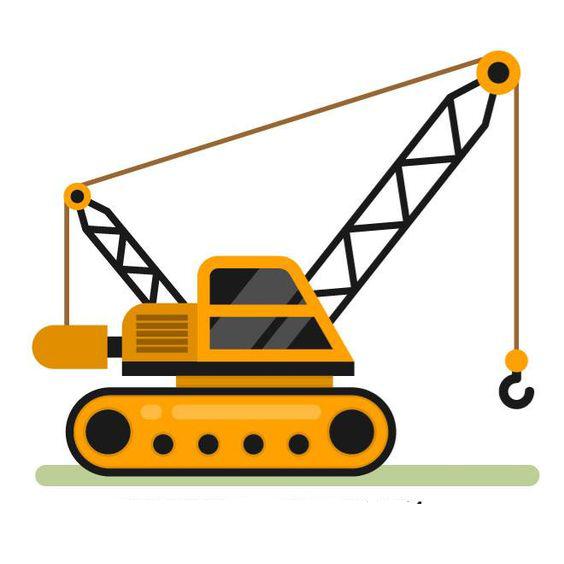 Crane clipart constuction. Architectural engineering clip art