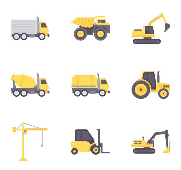 Forklift icons free vector. Fork clipart colored