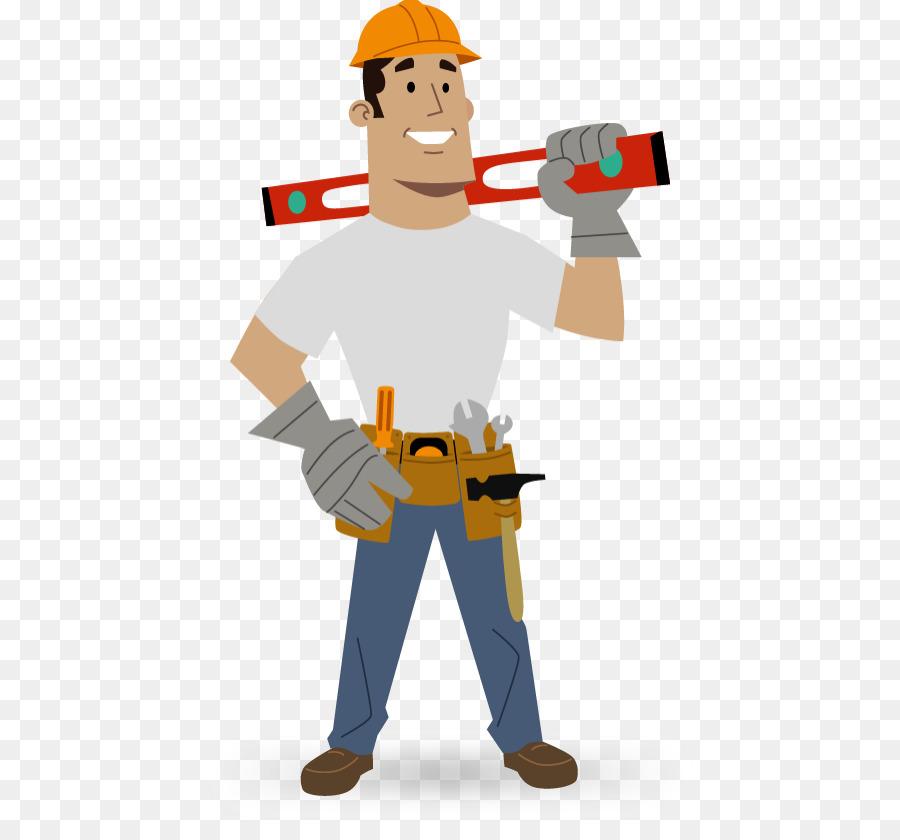 Cartoon construction clothing . Contractor clipart building contractor