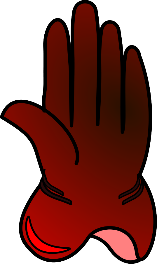 Glove clip art free. Mittens clipart single