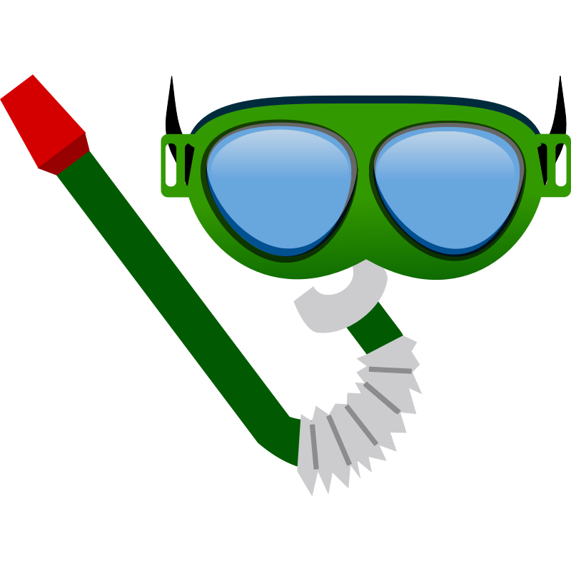 Goggles group safety checklist. Diver clipart bucear