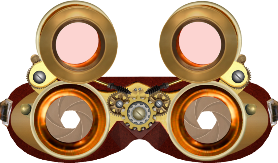 Steampunk clipart arrow. Goggles transparent png pictures