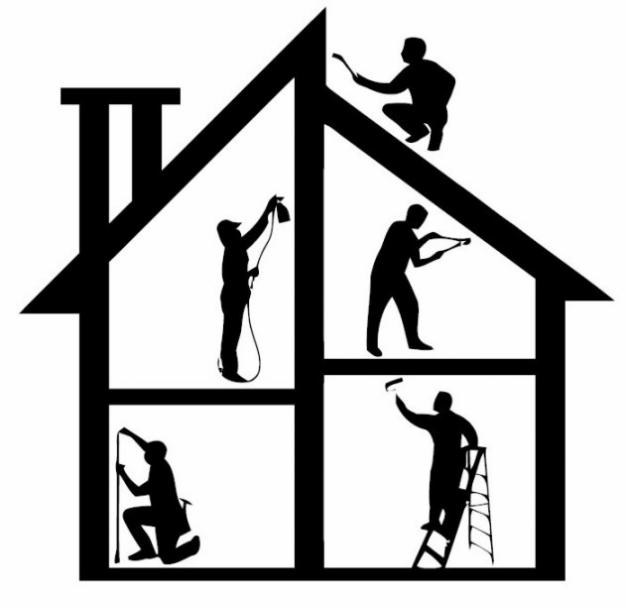 Contractor clipart maintenance. Free construction house cliparts